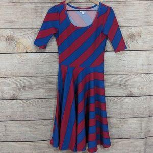 "LuLaRoe ""Nicole"" striped dress"